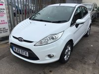 USED 2012 12 FORD FIESTA 1.4 ZETEC 16V 5d AUTO 96 BHP Only 20,000 miles, Automatic, white, 5 door. Hard to find, superb. 20,000 miles