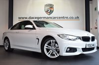 "USED 2014 63 BMW 4 SERIES 2.0 420D M SPORT 2DR AUTO 181 BHP full bmw service history *NO ADMIN FEES* FINISHED IN STUNNING ALPINE WHITE WITH FULL BLACK LEATHER INTERIOR + FULL BMW SERVICE HISTORY + PRO SATELLITE NAVIGATION + BLUETOOTH + XENON LIGHTS + HEATED SEATS + DAB RADIO + CRUISE CONTROL + LIGHT PACKAGE + AUTO AIR CON + RAIN SENSORS + PARKING SENSORS + 18"" ALLOY WHEELS"