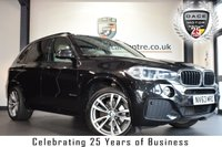 """USED 2014 63 BMW X5 3.0 XDRIVE30D M SPORT 5DR AUTO 255 BHP full bmw service history *NO ADMIN FEES* FINISHED IN STUNNING SAPPHIRE METALLIC BLACK WITH FULL WHITE LEATHER INTERIOR + FULL BMW SERVICE HISTORY + PRO SATELLITE NAVIGATION + BLUETOOTH + REAR-VIEW CAMERA + XENON LIGHTS + HEATED ELECTRIC SEATS WITH MEMORY + DAB RADIO + LIGHT PACKAGE + CRUISE CONTROL + LED FOG LIGHTS + RAIN SENSORS + PARKING SENSORS + 20"""" ALLOY WHEELS"""