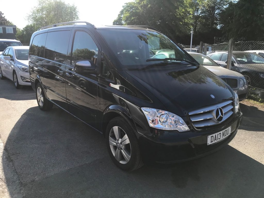 USED 2013 13 MERCEDES-BENZ VIANO 2.1 AMBIENTE CDI BLUEEFFICENCY 5d 163 BHP CARRIED CELEBRITY BOXERS, RARE AUTOMATIC GEARBOX, WITH FULL LEATHER BLACK SEATS.