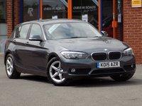 USED 2015 15 BMW 1 SERIES 1.5 116d Efficient Dynamics Plus 5dr ** Sat Nav + ZERO Road Tax **