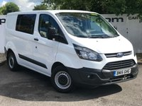 USED 2015 15 FORD TRANSIT CUSTOM 290 2.2 125 BHP CREW-CAB L1 H1**CHOOSE FROM OVER 85 VANS**