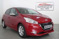 USED 2015 64 PEUGEOT 208 1.2 STYLE 5d 82 BHP Stunning red metallic Peugeot 208 with great specification. Only 19899 miles on the clock with full service history. Panoramic Roof and Satellite Navigation! Finance arranged full dealer facilities.  This vehicle will be sold with the benefit of a 3 month  warranty 12 month option available.