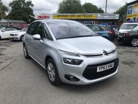 2013 CITROEN C4 PICASSO 1.6 E-HDI AIRDREAM VTR PLUS 5 DOOR 113 BHP IN SILVER 1 OWNER SERVICE HISTORY GREAT CONDITION  £6299.00