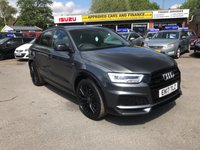 2017 AUDI Q3 2.0 TDI QUATTRO BLACK EDITION 5d AUTO 182 BHP IN METALLIC GREY WITH A FULL MAIN DEALER AUDI HISTORY WITH 36,500 MILES £22999.00