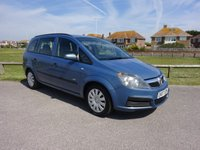 2007 VAUXHALL ZAFIRA 1.6 LIFE 16V, 2 OWNERS, 10 SERVICE STAMPS 74600 MILES BLUE 7 SEATER £2495.00