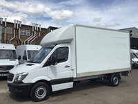 USED 2015 15 MERCEDES-BENZ SPRINTER 2.1 313CDI LWB LUTON BOX TAIL-LIFT. LOW 84,000 MILES. FSH. PX 1 OWNER. LOW 84,000 MILES. F/S/H. LOW FINANCE. PX