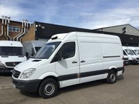 USED 2014 14 MERCEDES-BENZ SPRINTER 2.1 313CDI MWB HIGH ROOF FRIDGE FREEZER STANDBY PLUG IN. PX FRIDGE FREEZER. STANDBY. 1 OWNER. FINANCE. PX POSS