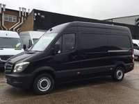 USED 2016 16 MERCEDES-BENZ SPRINTER 2.1 313CDI MWB HIGH ROOF 130BHP BLACK. LOW 87K. FSH. FINANCE. PX RARE BLACK. LOW 87K. FSH. 1 OWNER. LOW FINANCE. PX