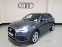 USED 2016 16 AUDI Q3 2.0 TDI QUATTRO S LINE PLUS 5d 148 BHP 1 Owner/ Sat -Nav/ Audi History/ Power Boot/ Bluetooth