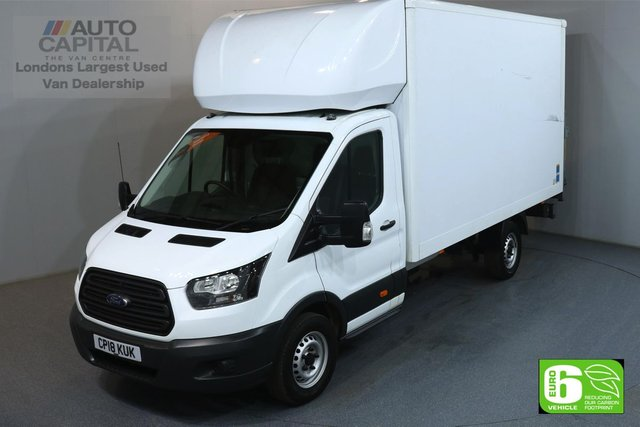 2018 18 FORD TRANSIT 2.2 350 124 BHP L4 EXTRA LWB RWD TAIL LIFT FITTED LUTON VAN EURO 6 MANUFACTURER WARRANTY UNTIL 18/06/2021