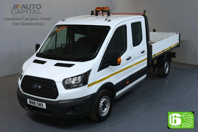 2018 18 FORD TRANSIT 2.0 350 L3 LWB 129 BHP RWD 7 SEATER DOUBLE CAB TIPPER EURO 6 MANUFACTURER WARRANTY UNTIL 27/03/2021