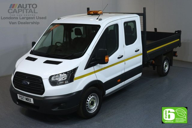 2017 17 FORD TRANSIT 2.0 350 LWB 129 BHP RWD 7 SEATER DOUBLE CAB TIPPER EURO 6 MANUFACTURER WARRANTY UNTIL 02/07/2020