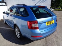 USED 2015 15 SKODA OCTAVIA 2.0 ELEGANCE TDI CR 5 door  148 BHP blue £179 A MONTH MEDIA SYSTEM SATELLITE NAVIGATION  CLIMATE CONTROL PARKING SENSORS  PARKING SENSORS