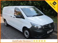 USED 2017 67 MERCEDES-BENZ VITO 1.6 111 CDI 1d 114 BHP Great Value Low Mileage Mercedes Vito Long  Panel Van with Electric Windows, Electric Door Mirrors, Twin Side Loading Doors and Service History.  This Vehicle is ULEZ Compliant with a EURO 6 Rated Engine.