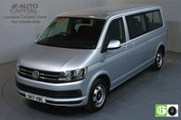 USED 2017 17 VOLKSWAGEN TRANSPORTER SHUTTLE 2.0 T32 TDI 148 BHP LWB 9 SEATS MINIBUS AUTO AIR CON EURO 6 AUTOMATIC GEARBOX, AIR CONDITIONING, EURO 6