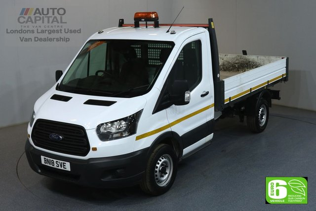 2018 18 FORD TRANSIT 2.0 350 L2 MWB 129 BHP RWD EURO 6 TIPPER MANUFACTURER WARRANTY UNTIL 10/03/2021