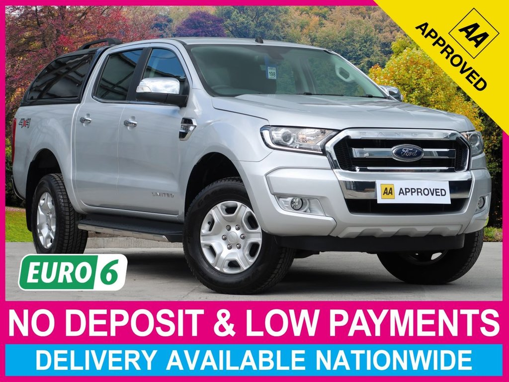 USED 2017 17 FORD RANGER 2.2 TDCI LIMITED AUTOMATIC DOUBLE CAB HARDTOP CANOPY EURO 6 HARDTOP SATELLITE NAVIGATION CLIMATE CONTROL