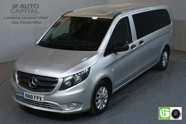 2018 18 MERCEDES-BENZ VITO 2.1 114 BLUETEC TOURER SELECT LWB 136 BHP 9 SEATER MINIBUS AUTO AIR CON EURO 6 MANUFACTURE WARRANTY UNTIL 19/03/2021