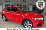 USED 2015 15 AUDI Q3 2.0 TDI QUATTRO SE 5d AUTO 182 BHP FINISHED IN STUNNING MISANO RED WITH ANTHRACITE CLOTH SEATS + FULL SERVICE HISTORY + SATELLITE NAVIGATION + ELECTRIC PANORAMIC ROOF + BLUETOOTH + LED DAYTIME LIGHTS + 17 INCH ALLOYS + DAB RADIO + PARKING SENSORS + AIR CONDITIONING