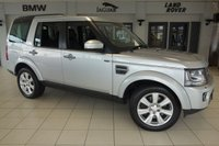 USED 2014 14 LAND ROVER DISCOVERY 3.0 SDV6 XS 5d AUTO 255 BHP FINISHED IN INDUS SILVER WITH FULL LEATHER SEATS + SATELLITE NAVIGATION + REVERSE CAMERA + 7 SEATER + HEATED FRONT SEATS + DAB RDIO + 19 INCH ALLOYS + HALOGEN HEADLIGHTS