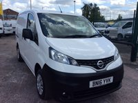 USED 2016 16 NISSAN NV200 SWB 1.5 DCI ACENTA 110 BHP 1 OWNER FSH NEW MOT 6 SPEED FREE 6 MONTH AA WARRANTY INCLUDING RECOVERY AND ASSIST NEW MOT EURO 5 SPARE KEY 6 SPEED BLUETOOTH TWIN SIDE LOADING DOORS ELECTRIC WINDOWS AND MIRRORS