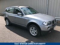 USED 2008 08 BMW X3 2.0 D SE 177 BHP MANUAL FULL SERVICE HISTORY, BLACK LEATHER TRIM. EXCELLENT EXAMPLE!