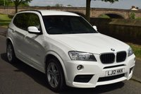 USED 2012 12 BMW X3 2.0 XDRIVE20D M SPORT 5d AUTO 181 BHP SERVICE HISTORY, BIG ALLOYS, SATELLITE NAVIGATION, BLUETOOTH, REAR PRIVACY GLASS, HEATED SPORTS LEATHER SEATS