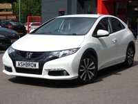 USED 2014 64 HONDA CIVIC 1.6 I-DTEC SE PLUS-T 5d 118 S/S SAT NAV TOUCH SCREEN, BLUETOOTH PHONE & AUDIO STREAMING, REAR VIEW CAMERA, FRONT & REAR PARKING SENSORS, POWER FOLDING MIRRORS, AUX & USB, LED DAYTIME RUNNING LIGHTS, 16 INCH 10 SPOKE ALLOYS, TINTED GLASS, AUTO LIGHTS & WIPERS, CRUISE CONTROL WITH SPEED LIMITER, LEATHER MULTIFUNCTION STEERING WHEEL, DUAL CLIMATE AIR CON, TRIP COMPUTER, DIGITAL SPEEDOMETER & DISPLAY, ALUMINIUM PEDALS, ILLUMINATING VANITY MIRRORS, FRONT & REAR ARM RESTS, ISO FIX, FOLDING REAR SEATS, £0 ROAD TAX, GOOD SERVICE HIST