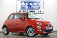 2016 FIAT 500 1.2 LOUNGE NEW MODEL 70 BHP £6390.00