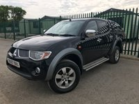 2007 MITSUBISHI L200 2.5 4WORK LWB 4WD 1d 135 BHP ALLOYS PRIVACY SIDESTEPS LEATHER CANOPY A/C MOT 08/19 £3400.00