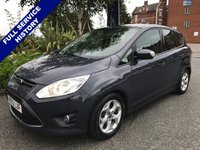 USED 2012 62 FORD C-MAX 1.6 ZETEC 5d 104 BHP FSH, ONLY 50,000 MILES