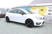 2014 SEAT IBIZA 1.4 CUPRA TSI DSG 3d AUTO 180 BHP PETROL WHITE