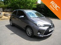USED 2016 16 TOYOTA YARIS 1.0 VVT-I ICON 3d 69 BHP Free To Tax!! Great Colour! Rear Parking Camera, Alloy Wheels, Cruise Control