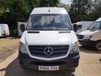 USED 2016 66 MERCEDES-BENZ SPRINTER 2.1 314CDI 1d 140 BHP EURO 6 VAN ARCTIC WHITE 66 PLATE SUPERB EXAMPLE OF A VAN