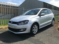 2012 VOLKSWAGEN POLO 1.2 MATCH 3 DOOR SILVER 2 OWNERS 54000 MILES READY TO GO  £4995.00