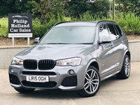 USED 2015 15 BMW X3 2.0 XDRIVE20D M SPORT 5d 188 BHP Full leather / Heated, Sat Nav, Front / Rear parking sensors, Power tailgate