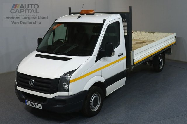 2015 15 VOLKSWAGEN CRAFTER 2.0 CR35 RWD 109 BHP DROPSIDE ONE OWNER, SERVICE HISTORY