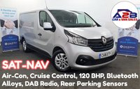 2016 RENAULT TRAFIC 1.6 DCI SL27 SPORT ENERGY 120 BHP in Silver with Factory SATNAV, Air Conditioning, Cruise Control, Bluetooth, Alloy Wheels, Rear Parking Sensors and more. £10480.00