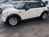 USED 2007 07 MINI HATCH COOPER S 1.6 COOPER S 3d 2007 S TURBO,LOW MILEAGE,JUST HAD CAM CHAIN FULL SERVICE A SUPERB COOPER S FACELIFT WITH A HIGH SPEC, MAJOR SERVICE WHICH DEALT WITH THE COOPER S COMMON ISSUES, CAM CHAIN, VANOS, TENSIONER,HUB,COIL PACKS,OILS,FILTERS AND NEW MOT, RUNS AND DRIVES SUPERB. BEST COLOUR WITH CREAM HALF LEATHER,FSH, STUNNING WITH OVER £3200 OF UPGRADES