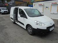 2012 PEUGEOT PARTNER 1.6 HDI FIVE SEAT DOUBLE CAB LONG WHEEL BASE, ELECTRIC WINDOWS, ((( FINANCE AVAILABLE )))  £3500.00