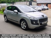 USED 2012 61 PEUGEOT 3008 1.6 Sport 5 Door SUV In Silver