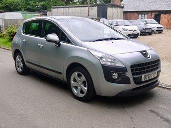 2012 PEUGEOT 3008 1.6 Sport 5 Door SUV In Silver  £3995.00