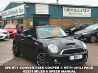 USED 2009 09 MINI CONVERTIBLE 1.6 COOPER S Midnight Black with Chili Pack 175 BHP Sporty Convertible Cooper S with Chili Pack 62231 miles 6 Speed Manual