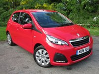 USED 2016 16 PEUGEOT 108 1.0 ACTIVE 5d  * LOW MILEAGE * 12 MONTHS AA BREAKDOWN COVER * 128 POINT AA INSPECTED *
