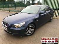 USED 2009 09 BMW 5 SERIES 3.0 525D SE BUSINESS EDITION 4d AUTO 195 BHP ALLOYS PRIVACY SATNAV CRUISE IDRIVE LEATHER A/C MOT 01/20 SATELLITE NAVIGATION. I-DRIVE. STUNNING BLUE MET WITH FULL BEIGE LEATHER TRIM. ELECTRIC SEATS. CRUISE CONTROL. 17 INCH UPGRADED ALLOYS. COLOUR CODED TRIMS. PRIVACY GLASS. PARKING SENSORS. BLUETOOTH PREP. DUAL CLIMATE CONTROL INCLUDING AIR CON. MFSW. R/CD PLAYER. AUTO. MOT 01/20. SERVICE HISTORY. SUV & 4X4 CAR CENTRE LS23 7FR. TEL 01937 849492 OPTION 2