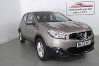 USED 2012 62 NISSAN QASHQAI 1.6 ACENTA 5d 117 BHP NISSAN QASHQAI 1.6 ACENTA 5d 117 BHP One owner, clean Nissan Qashqai  with full service history  Packed with lots of features including Bluetooth, rear camera  We offer ZERO deposit finance at competitive rates and we welcome your part exchange. To arrange a viewing or test drive simply get in touch and one of our experienced sales staff will be pleased to assist.