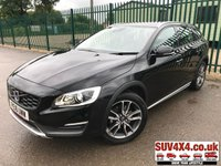 USED 2016 16 VOLVO V60 2.0 D4 CROSS COUNTRY LUX NAV 5d 188 BHP ALLOYS SATNAV CRUISE LEATHER BLUETOOTH LOW MILES FSH MOT 03/20 SATELLITE NAVIGATION. STUNNING BLACK MET WITH FULL BLACK LEATHER TRIM. ELECTRIC MEMORY HEATED SEATS. CRUISE CONTROL. 18 INCH ALLOYS. COLOUR CODED TRIMS. PARKING SENSORS. BLUETOOTH PREP. DUAL CLIMATE CONTROL. TRIP COMPUTER. MEDIA CONNECTIVITY. 6 SPEED MANUAL. MFSW. MOT 03/20. ONE PREV OWNER. FULL SERVICE HISTORY. LOW MILEAGE. SUV & 4X4 CAR CENTRE LS23 7FR. TEL 01937 849492 OPTION 2