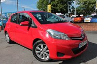 USED 2012 62 TOYOTA YARIS 1.3 VVT-I TR 5d 98 BHP REVERSE CAMERA - ALLOY WHEELS - BEAUTIFUL COLOUR - LOW MILES - AIR CON - 6 SPEED