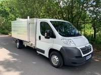 USED 2014 14 CITROEN RELAY 2.2 LWB TOOL BOX TREE SURGEON ARBORIST TIPPER 1 OWNER CHOICE OF 4
